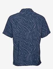Banana Republic - Slim Soft Camp Shirt - lyhythihaiset paidat - navy - 1