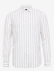 Banana Republic - Untucked Slim-Fit Linen-Cotton Shirt - casual shirts - wide stripe - 0