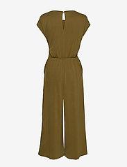 Banana Republic - Sandwash Tie-Front Cropped Jumpsuit - jumpsuits - cindered olive - 1