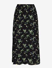 Banana Republic - Floral Midi Skirt - midi skirts - black ditsy floral - 0