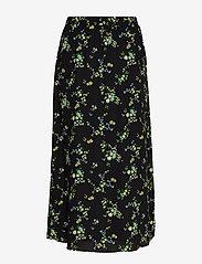 Banana Republic - Floral Midi Skirt - midi skirts - black ditsy floral - 1
