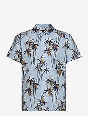 Banana Republic - Slim Perforated Resort Shirt - short-sleeved shirts - sky blue - 1