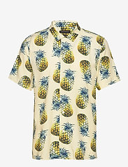 Banana Republic - Slim Soft Resort Shirt - short-sleeved shirts - pineapple 638 - 0