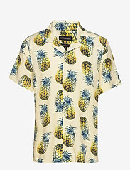 Banana Republic - Slim Soft Resort Shirt - short-sleeved shirts - pineapple 638 - 2