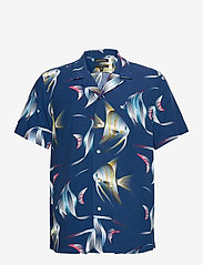 Banana Republic - Slim Soft Resort Shirt - short-sleeved shirts - navy - 0