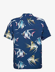 Banana Republic - Slim Soft Resort Shirt - short-sleeved shirts - navy - 1