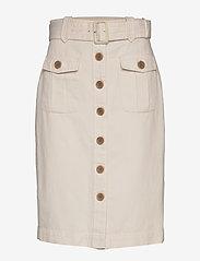 Banana Republic - Heritage Cotton-Linen Safari Skirt - midi skirts - transition cream - 0