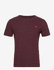Banana Republic - I LOGO SOFTWASH ORGANIC TEE - basic t-shirts - maroon htr hb414 - 0