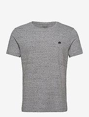 Banana Republic - I LOGO SOFTWASH ORGANIC TEE - basic t-shirts - medium grey hthr b25 - 0
