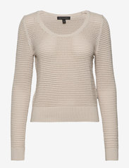Banana Republic - Pointelle Cropped Sweater - swetry - natural - 0