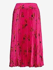 Banana Republic - Floral Satin Pleated Midi Skirt - midi skirts - midnight floaty floral - 1