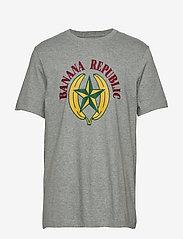 Banana Republic - I GRAPHIC TEE - BR LOGO I - short-sleeved t-shirts - heather grey - 0