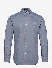 Banana Republic - I CA LOGO NI DOBBY - checkered shirts - elysian blue - 0