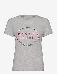 Banana Republic - I SS SU20 HTG GRAPHIC - t-shirts - light grey - 0