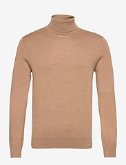 Banana Republic - Italian Merino Turtleneck Sweater - basic knitwear - classiccaramel - 0
