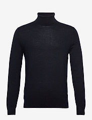 Banana Republic - Italian Merino Turtleneck Sweater - basic knitwear - navy - 0