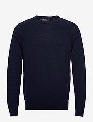 Banana Republic - Italian Merino Crew-Neck Sweater - basic knitwear - navy - 0