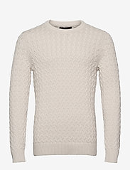 Banana Republic - SUPIMA® Cable-Knit Sweater - basic knitwear - transition cream - 0