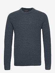 Banana Republic - Wool-Blend Crew-Neck Sweater - basic knitwear - blue slate - 0