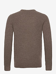 Banana Republic - Wool-Blend Crew-Neck Sweater - basic knitwear - soft taupe - 1