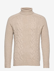 Banana Republic - Italian Wool-Blend Turtleneck Sweater - basic knitwear - vintage tan - 0