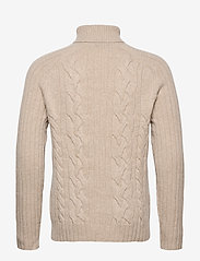 Banana Republic - Italian Wool-Blend Turtleneck Sweater - basic knitwear - vintage tan - 1