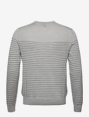 Banana Republic - Merino Stripe Sweater in Responsible Wool - knitted round necks - light grey - 1