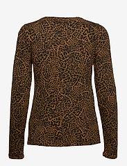 Banana Republic - Slub Cotton-Modal Long-Sleeve T-Shirt - long-sleeved tops - black/leopard - 1