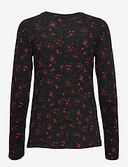 Banana Republic - Slub Cotton-Modal Long-Sleeve T-Shirt - long-sleeved tops - red floral - 1