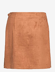Banana Republic - Vegan Suede Wrap Mini Skirt - short skirts - camel - 1