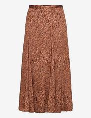 Banana Republic - Satin Godet Midi Skirt - midi skirts - camel/animal print - 0