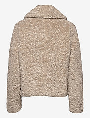 Banana Republic - Sherpa Short Coat - faux fur - cool taupe - 1