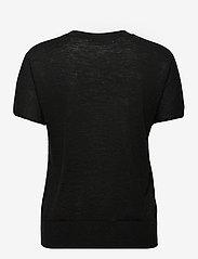 Banana Republic - Linen-Blend Short-Sleeve Sweater - strikkede toppe - black 800 - 1