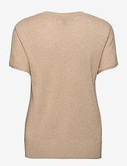 Banana Republic - Linen-Blend Short-Sleeve Sweater - strikkede toppe - cool beige - 1