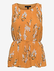 Banana Republic - Pleated Top - sleeveless blouses - yellow floral - 0