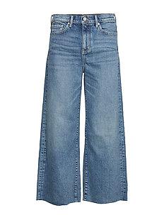 High-Rise Wide-Leg Cropped Jean - wide leg jeans - medium blue vintage