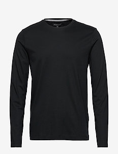 Luxury-Touch Crew-Neck T-Shirt - BLACK