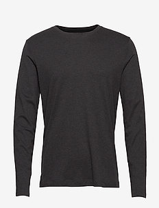 Luxury-Touch Crew-Neck T-Shirt - DARK CHARCOAL