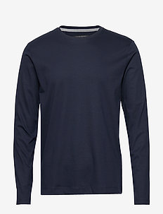 Luxury-Touch Crew-Neck T-Shirt - basic t-shirts - preppy navy