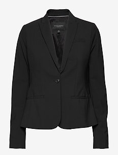 Classic-Fit Washable Italian Wool-Blend Blazer - getailleerde blazers - black