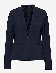 Classic-Fit Washable Italian Wool-Blend Blazer - tailored blazers - navy