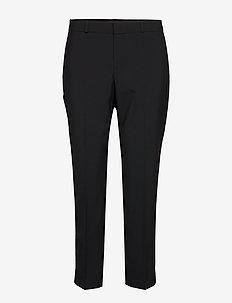 Avery Straight-Fit Washable Wool-Blend Ankle Pant - bukser med lige ben - black