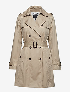 Water-Resistant Classic Trench Coat - trenchcoats - golden beige