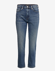 High-Rise Straight Ankle Jean - straight jeans - indigo