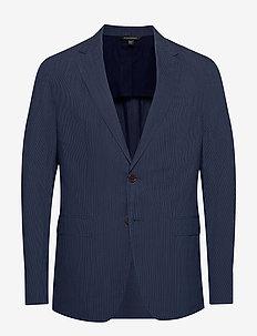 Slim Stripe Blazer - single breasted blazers - sapphire blue