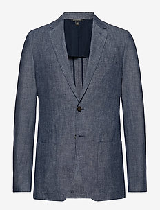 Slim Chambray Blazer - WEST PALM BLUE