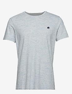 I LOGO SOFTWASH TEE II - basic t-shirts - sparklingwaterblue