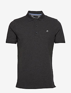 Signature Pique Polo - kortærmede - dark charcoal heather