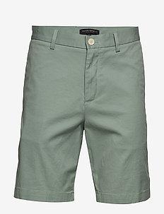 """9"""" Slim Stretch-Cotton Short - SOFT SAGE"""