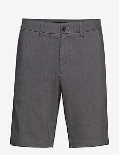 "9"" Slim Linen Blend Short - MESA GREY"